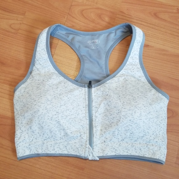 6e697ecdab3649 Danskin Now Other - NWOT Grey molded cup zip up shorts bra